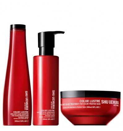 Pack Shampooing Conditionner Masque Color Lustre Shu Uemura