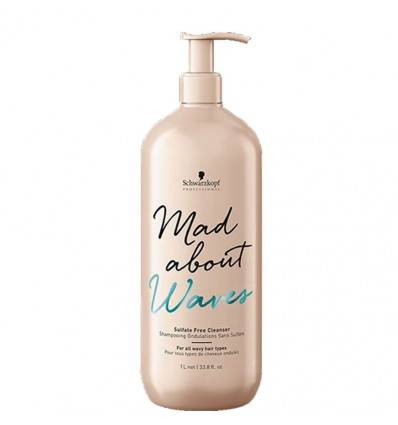 Shampoing Ondulations Sans Sulfate Mad About Waves Schwarzkopf 1000 ml