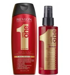 Duo Shampooing Conditionner Et Soin Capillaire Uniq One Revlon
